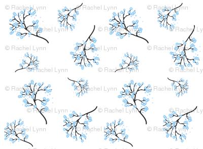 Spring Blossoms - Powder Blue