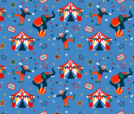 Classic Retro Circus fabric by cherishedminky on Spoonflower - custom fabric