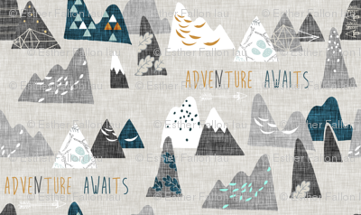 Adventure awaits (REGULAR) (grey/teal)