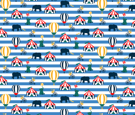 Retro Circus Fun fabric by fancyjackdesigns on Spoonflower - custom fabric