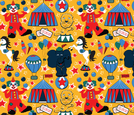 Retro_Circus fabric by everhigh on Spoonflower - custom fabric