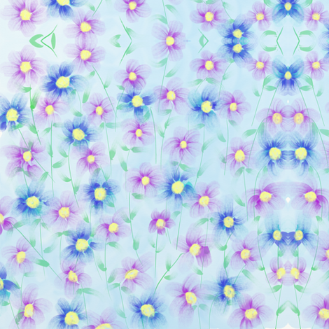 Field of Flowers fabric by addie_d on Spoonflower - custom fabric
