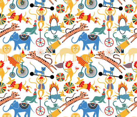 Circus Animals Aloose!  fabric by vo_aka_virginiao on Spoonflower - custom fabric