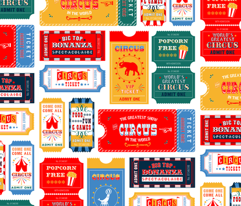 Circus Tickets fabric by digidivagraphics on Spoonflower - custom fabric