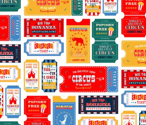 Circus Tickets fabric by heatherhightdesign on Spoonflower - custom fabric