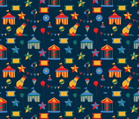 Circus fabric by svaeth on Spoonflower - custom fabric