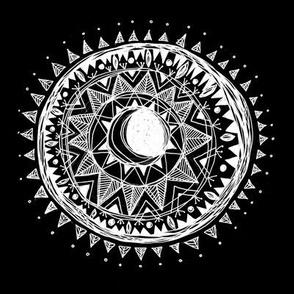 Moon Mandala Black