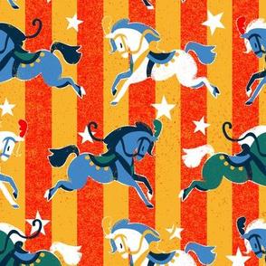 Retro Circus Horses
