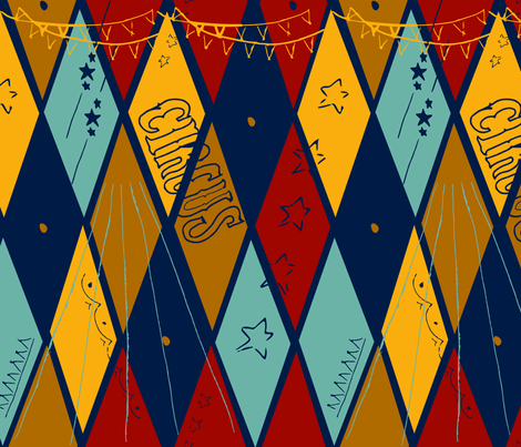 vintage_circus fabric by rivkah_leah on Spoonflower - custom fabric