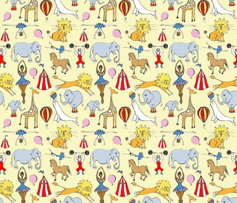 Retro Circus fabric by pookeek on Spoonflower - custom fabric