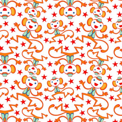 Circus Monkey 1 fabric by jadegordon on Spoonflower - custom fabric