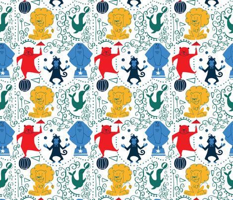 Fun retro circus fabric by natalia_gonzalez on Spoonflower - custom fabric