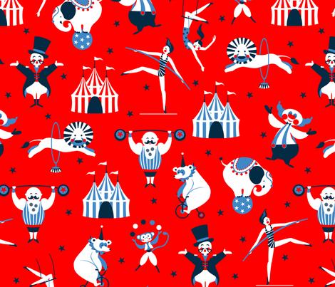 retro circus  fabric by cjldesigns on Spoonflower - custom fabric