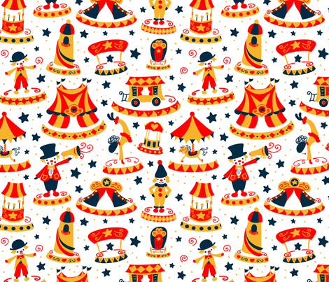 Stars of the circus fabric by lauraflorencedesign on Spoonflower - custom fabric