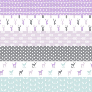 "3"" small scale - Girl woodland (purple and blue) 