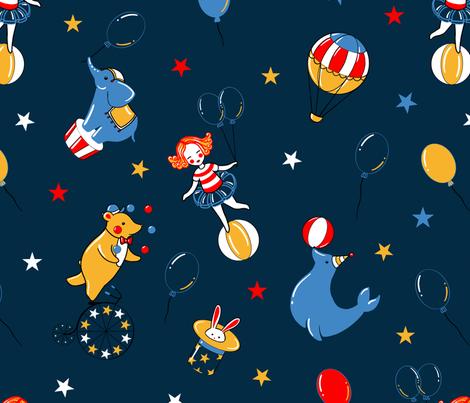 Retro American circus fabric by elena_naylor on Spoonflower - custom fabric
