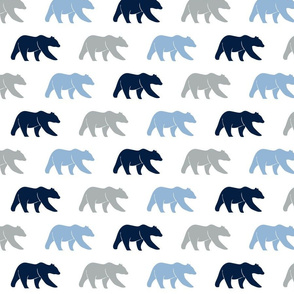 multi bear - navy/grey/baby blue