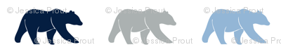 (micro print) multi bears - navy/blue/grey