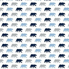 (micro print) multi bears - navy/blue/grey