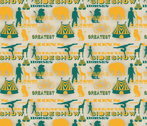 Sideshow memories fabric by dippity-do_designs on Spoonflower - custom fabric