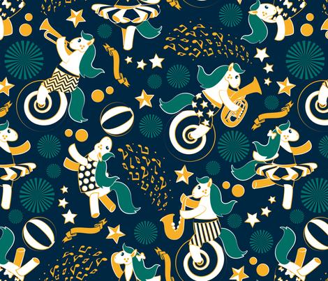 Equestrian modern circus fabric by selmacardoso on Spoonflower - custom fabric