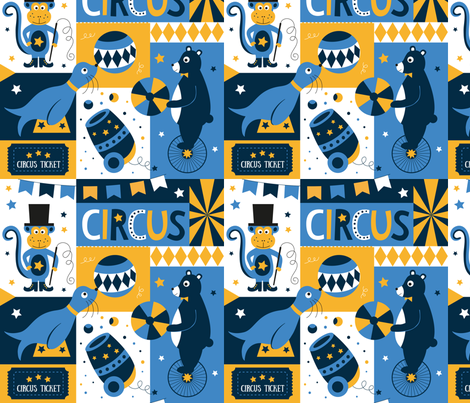 Retro-circus fabric by la_fabriken on Spoonflower - custom fabric