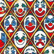 Vintage Clowns - Circus Pattern
