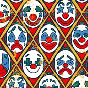 Vintage Clowns - Circus Pattern