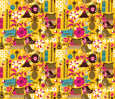Mahalo from the MidCentury-Small fabric by cynthiafrenette on Spoonflower - custom fabric