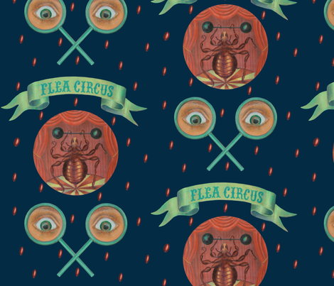 Magic Flea Circus fabric by noetje on Spoonflower - custom fabric