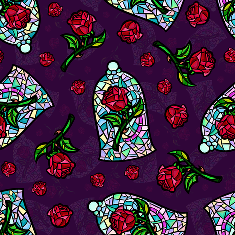 Glass Roses fabric by elladorine on Spoonflower - custom fabric