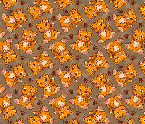 Lil' Tiger fabric by elladorine on Spoonflower - custom fabric