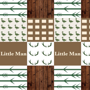 Little Man duck and woods wholecloth 1