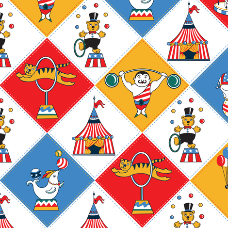 Retro-Circus-Baby-Quilt fabric by julistyle on Spoonflower - custom fabric