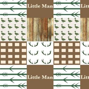 Little man light wood duck wholecloth 3