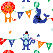 Circus Animals ABCs on White