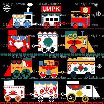Russian Circus Train