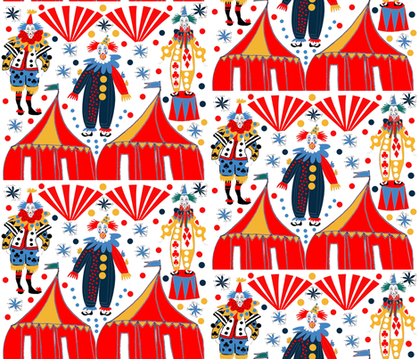 Clowning around fabric by abstracthands on Spoonflower - custom fabric
