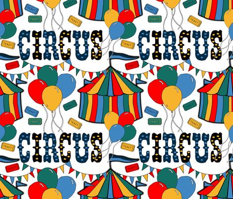 Circus Memories fabric by irishvikingdesigns on Spoonflower - custom fabric