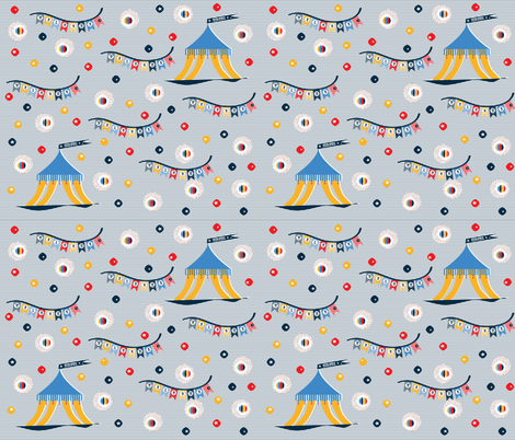 navy stripes circus fabric by cotcodec on Spoonflower - custom fabric
