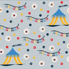 navy stripes circus