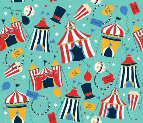 Big Top fabric by penandpaint on Spoonflower - custom fabric