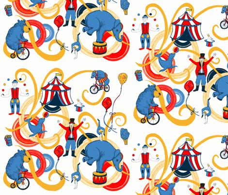 Retro Circus Fun fabric by palifino on Spoonflower - custom fabric