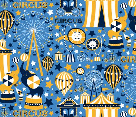 Joyful_Circus fabric by trendy_creations on Spoonflower - custom fabric