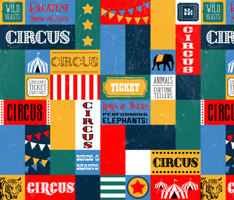 Vintage Circus fabric by adenaj on Spoonflower - custom fabric