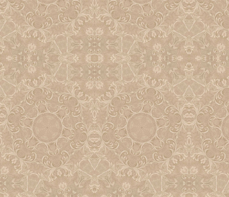 beigescrolls2 fabric by tell3people on Spoonflower - custom fabric