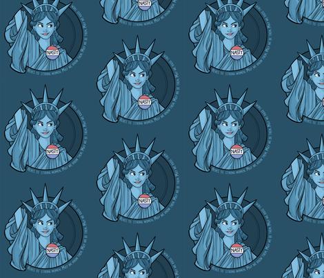Nasty Lady Liberty fabric by karenhallionart on Spoonflower - custom fabric