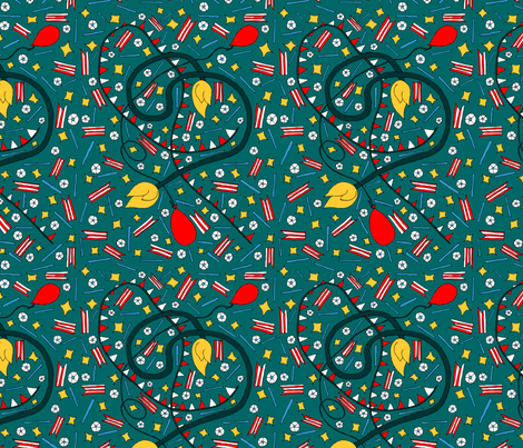 Vintage Retro Circus - Festivus Forms fabric by madartes on Spoonflower - custom fabric