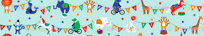 Circus Animals ABCs on Blue