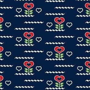 Scandinavian Flower Hearts
